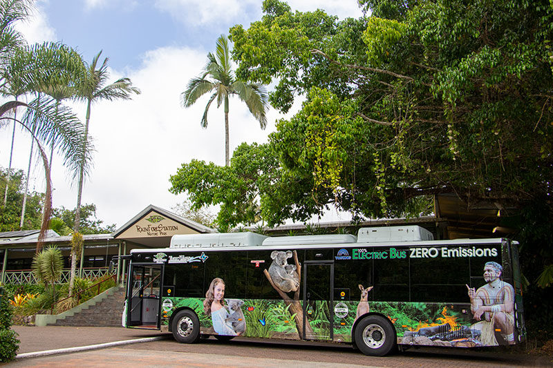 tropic wings 100% electric bus